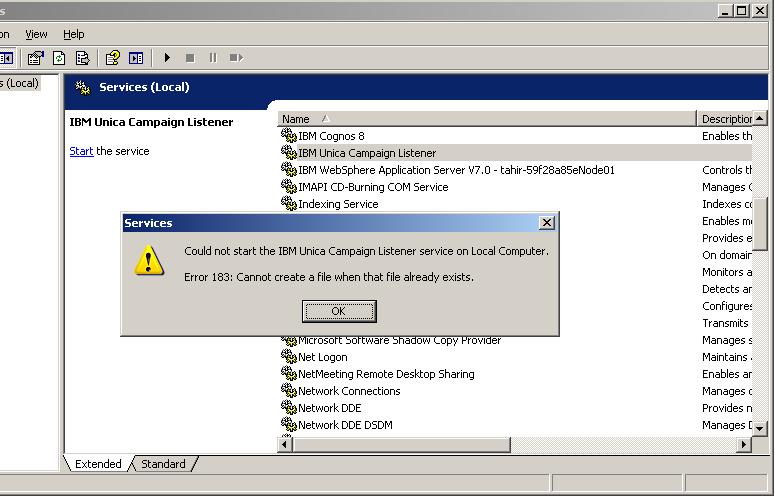 IBM_Listener_Error